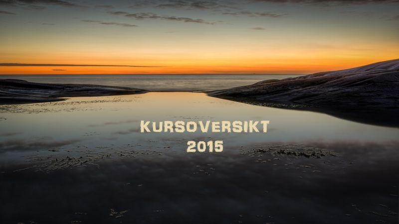 KURSOVERSIKT 2015